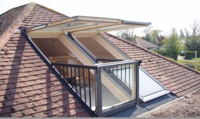 Skylofts loft conversion balcony windows for Velux balcone